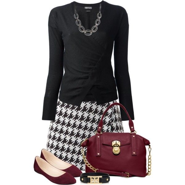 A fashion look from September 2014 featuring Tom Ford cardigans, Nine West flats and Michael Kors handbags. Browse and shop related looks.