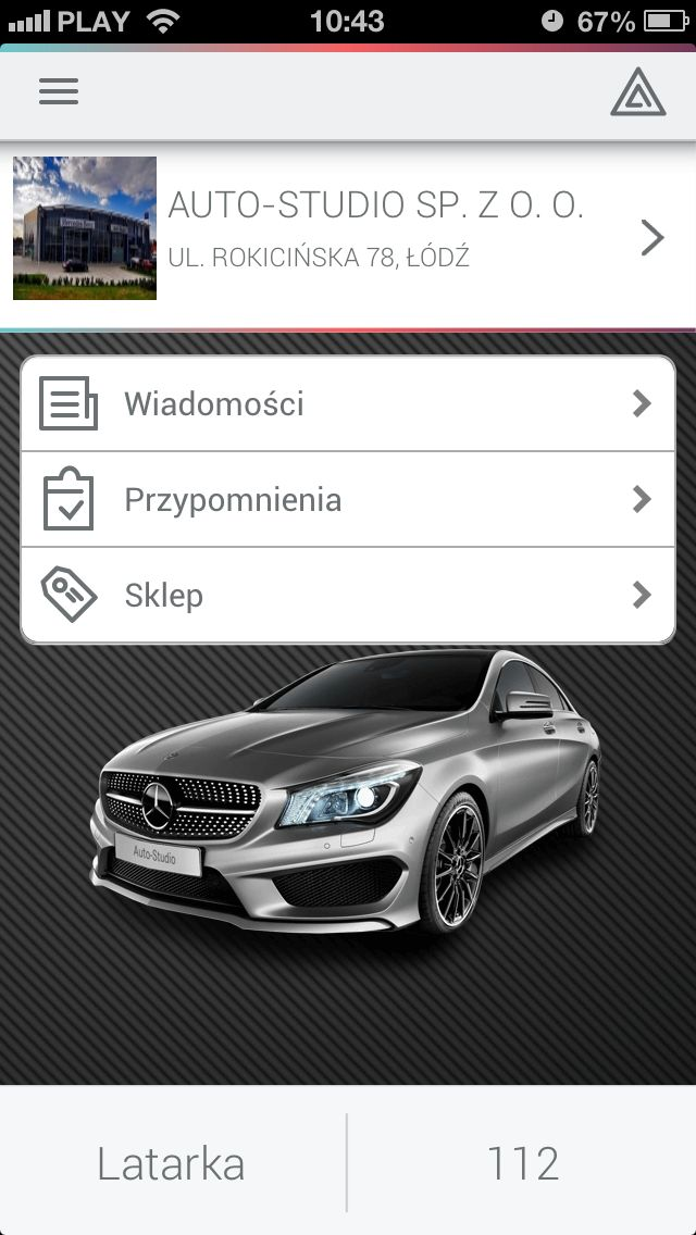 Main screen of application for #Mercedes.  #dealershipapps #mobileapps #webapps #aplikacjewebowe #aplikacjemobilne #iOS #Android