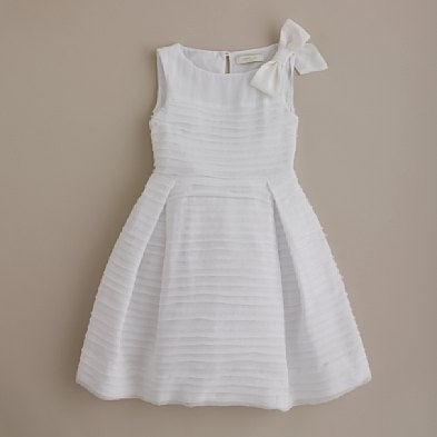 white dress  add sleeves  simple pleats and full skirt
