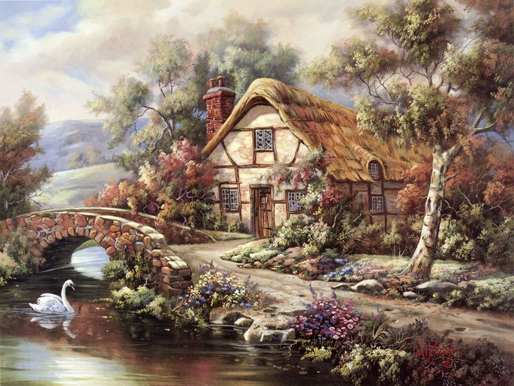 Ashdon Cottage, Essex ~ English countryside ~ stone bridge