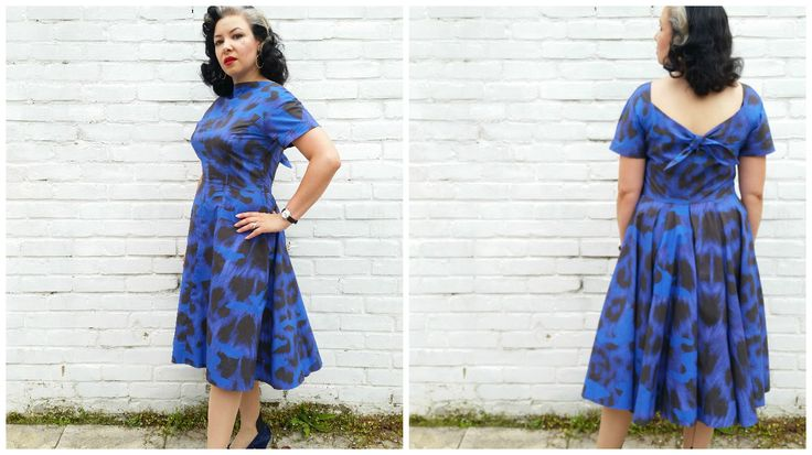 Vogue 1054 from 1956, made using fabric from Ikea! #vintagepledge