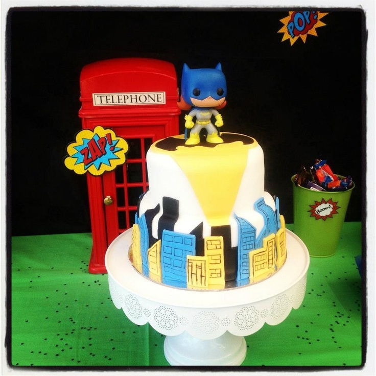 After all the planning.....Tannah's 5th birthday cake. Batgirl and city skyline.