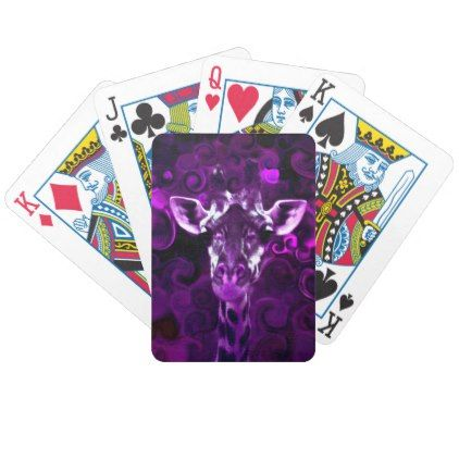 #Closeup Purple Bicycle Playing Cards - #giftideas for #kids #babies #children #gifts #giftidea