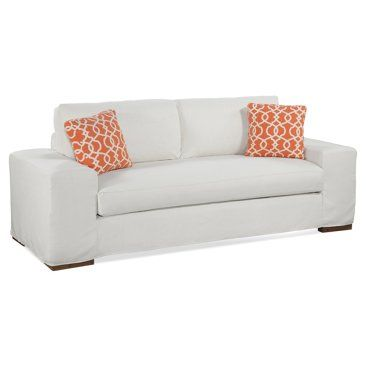 """Check out this item at One Kings Lane! Scott 94"""" Sofa, Ecru"""