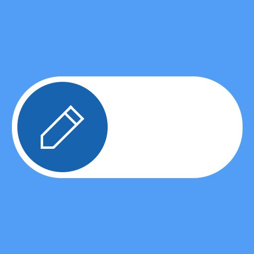 Toggle switch UI  Design:  Romain DAO