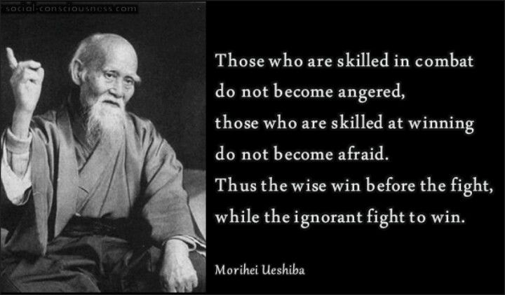 http://www.holmesproduction.co.uk/ Morihei Ueshiba I think this quote is at the root of why I enjoy Samurai, Kung-fu, and other warrior based or martial arts movies. They epitomize those who fight only for peace or honor and never out of anger. It's all about the mind and the skill...
