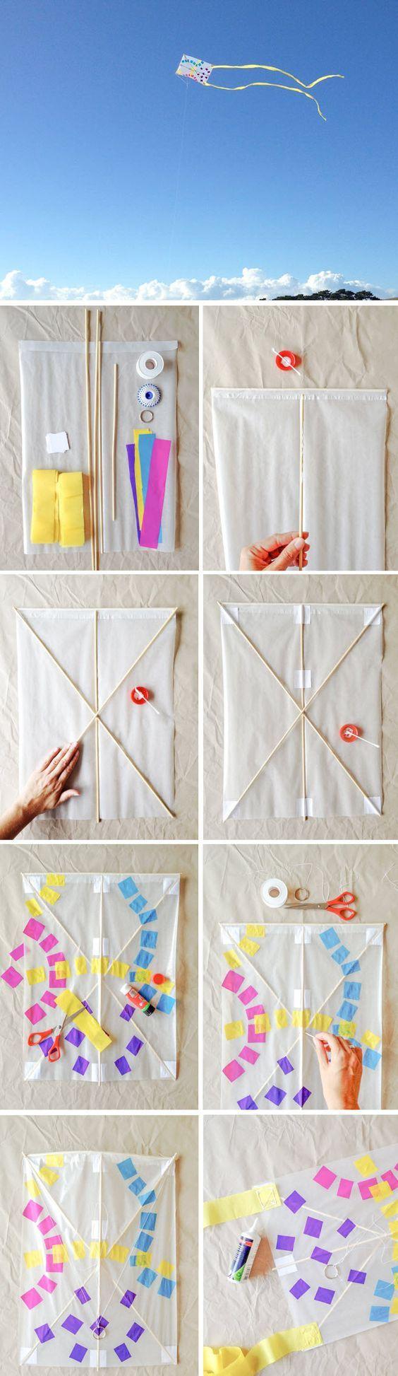 Fabriquer un cerf volant en papier