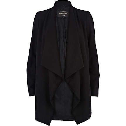 Black waterfall coat - coats - coats / jackets - women