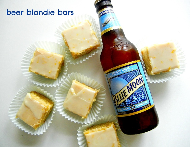 blue moon beer blondies & cupcakes