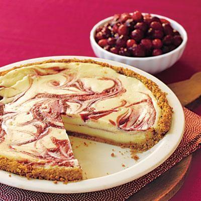 Holiday dessert recipes: Cranberry Swirl Cheesecake Pie