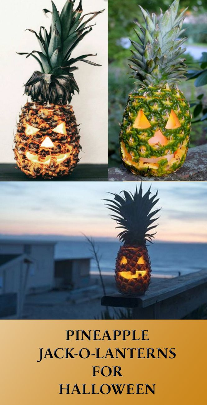 Switch up pumpkins for pineapples this Halloween