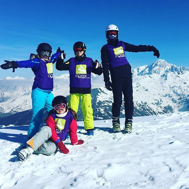 Fantastic #weather and #fantastic views for the guys in our children's groups today! #snow #spring #montblanc