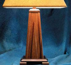 Woodworking Plans U0026 Projects   Mahogany Table Lamp