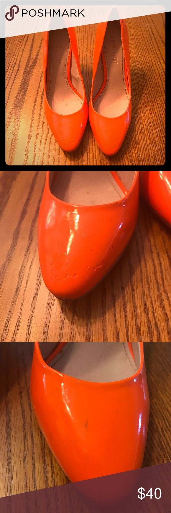 Colin Stuart Neon Orange HTF Heels 👠!!! Previously loved Colin Stuart Neon Orange Size 7 Heels!!! Still a ton of life left in these stunning heels 😍😍😍 Feel free to make me an offer !! Colin Stuart Shoes Heels