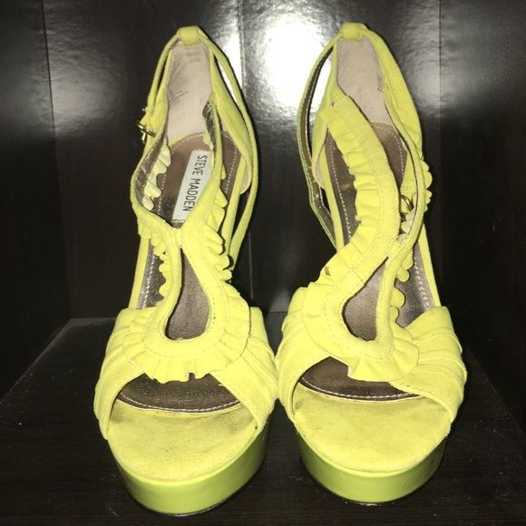 Steve Madden pumps Lime Green platform heels Steve Madden Shoes Heels