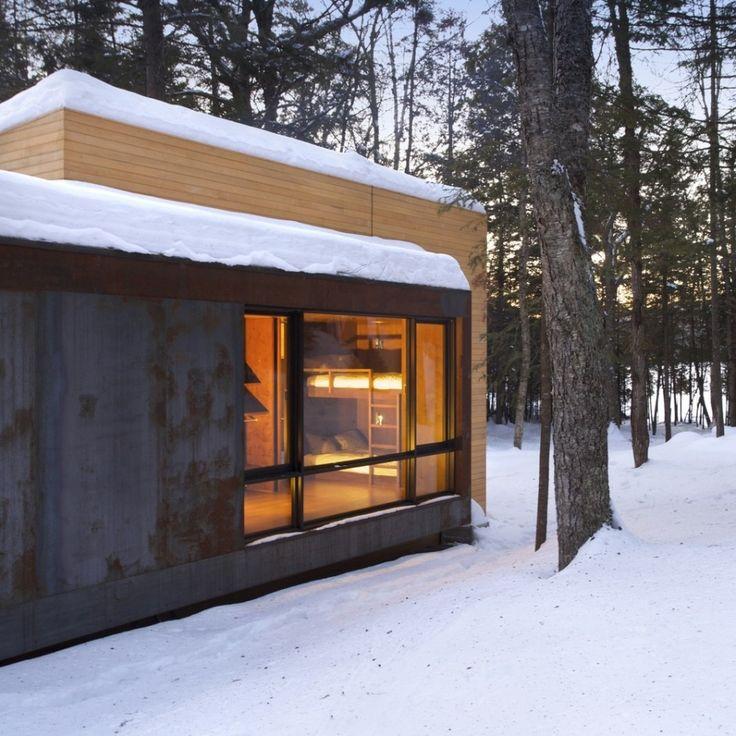 La Luge, un chalet à Québec réalisé par YH2 Architects.