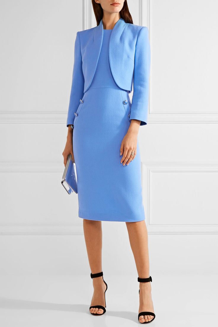 Michael Kors Collection | Cropped wool-blend crepe jacket | NET-A-PORTER.COM