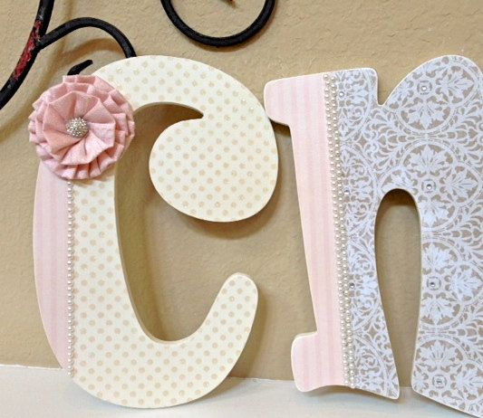 Custom Nursery Letters   Baby Girl Nursery Decor  Wooden Letters   Personalized  Wall Hanging