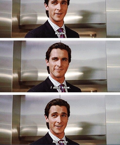 American Psycho Quotes Simple 27 Best American Psycho Memes For When They Become Useful Images On
