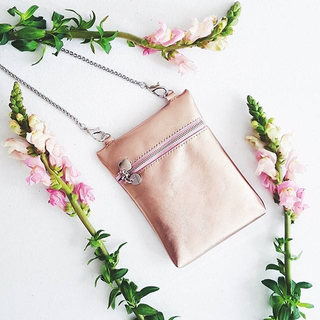 Mabba / Leather Minibag Rosegold