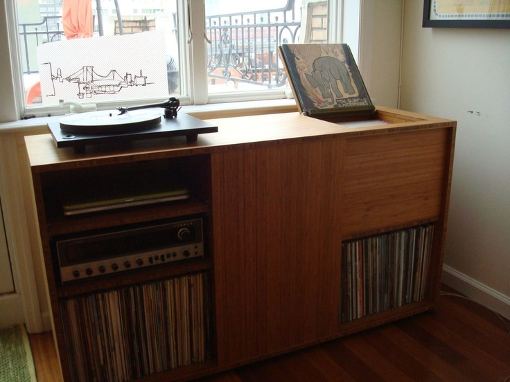 Lovely Great Vinyl Storage Turntable Unit Made From Plyboo