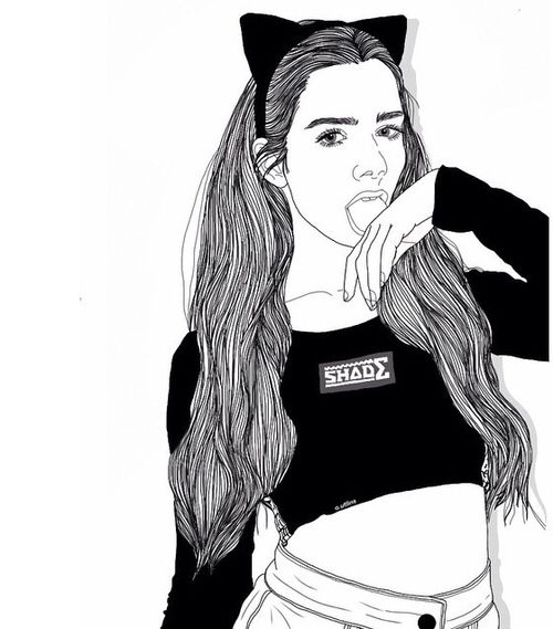98 best images about Tumblr Swag Girls Drawing on ...