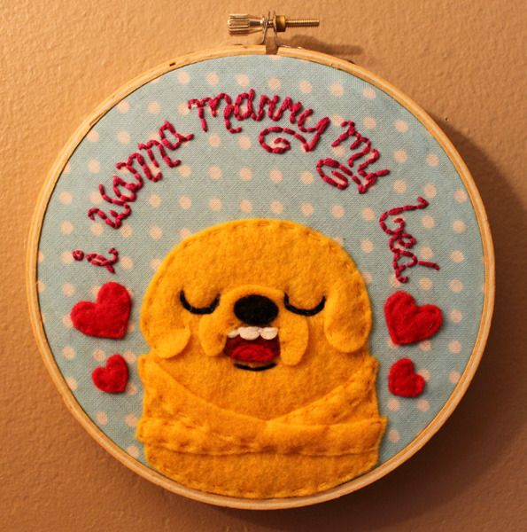 More Adventure Time hoops! - NEEDLEWORK- by loveandasandwich on craftster