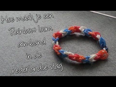 ▶ Diy Maak een Nederlandse Vlag Regenboog Loom! - YouTube