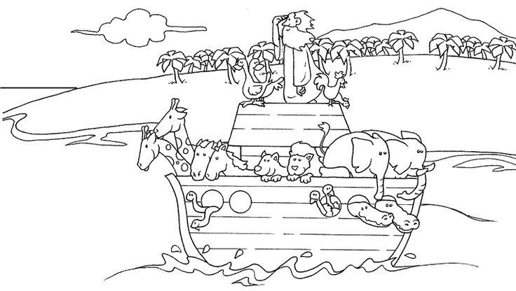 Noahs Ark Realistic Sketch