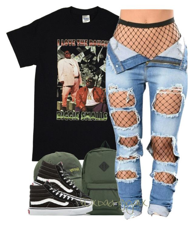 """707"" by xbad-gyalx ❤ liked on Polyvore featuring Herschel Supply Co. and Vans"