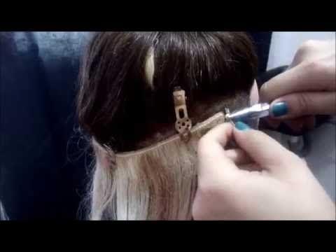 Como pongo Yo las extensiones de cabello con grapas. - YouTube