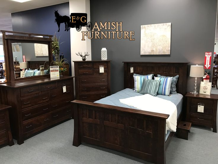 ... Solid Wood Amish Made Princeton Bedroom Collection. Made From Solid Sap  Cherry Wood With A Burnt Umber Stain Color. Available At Our Sugar Land ...