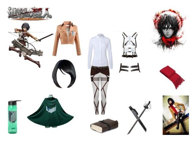 mikasa ackerman by mayleneholm on Polyvore featuring ESCADA and Mikasa