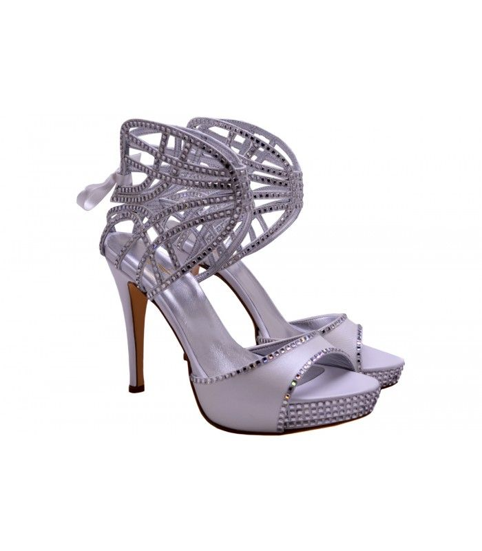 LEATHER BRIDAL-EVENING SANDALS DESIGNER LOU Excellent choice for a very impressive appearence.