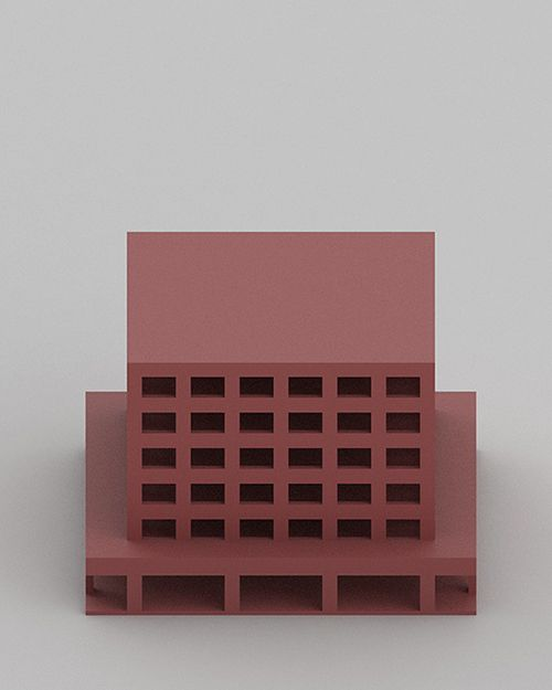 rendered clay color block  Johannes Norlander