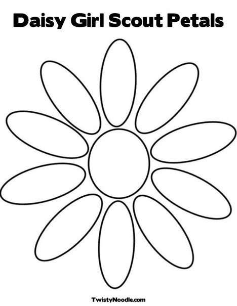 1000 images about lucky tracker on pinterest flower for Daisy girl scout coloring page