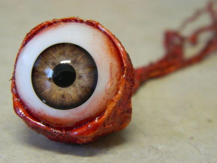 halloween horror movie prop ripped out eyeball light brown - Halloween Supplies