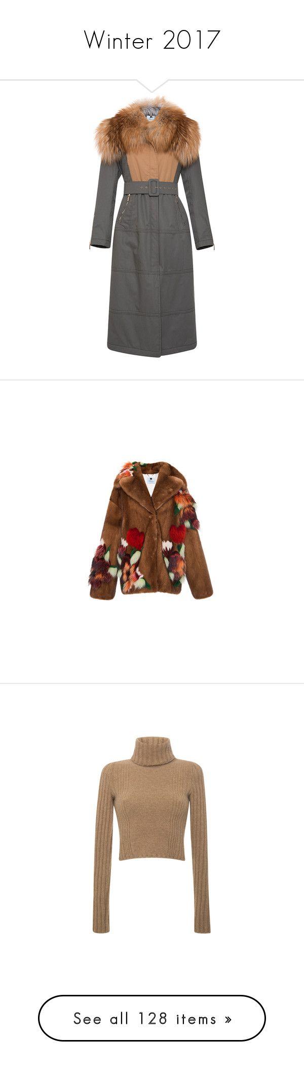 """Winter 2017"" by lorika-borika ❤ liked on Polyvore featuring outerwear, coats, blumarine, fur, coat with belt, belted coat, belt coat, safari coat, floral coat and brown coat"