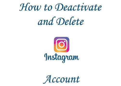 Best 25 deactivate instagram account ideas on pinterest halifax delete instagram deactivate ccuart Images