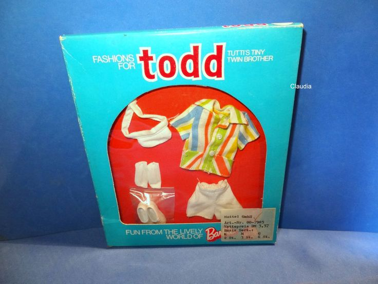 Vintage Tutti TODD Europe HUEBSCH ANGEZOGEN Well Dressed #7985 MIB NRFB MINT #ClothingShoes