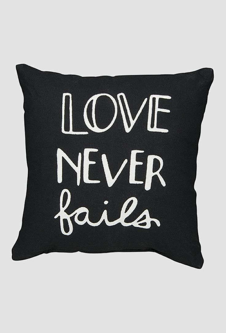 'Love Never Fails' Pillow love it! It's a must have