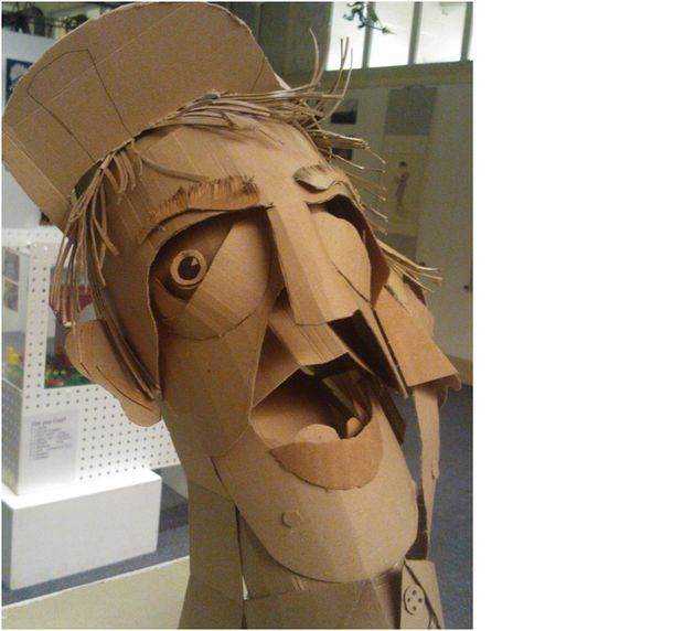how to make a cardboard head