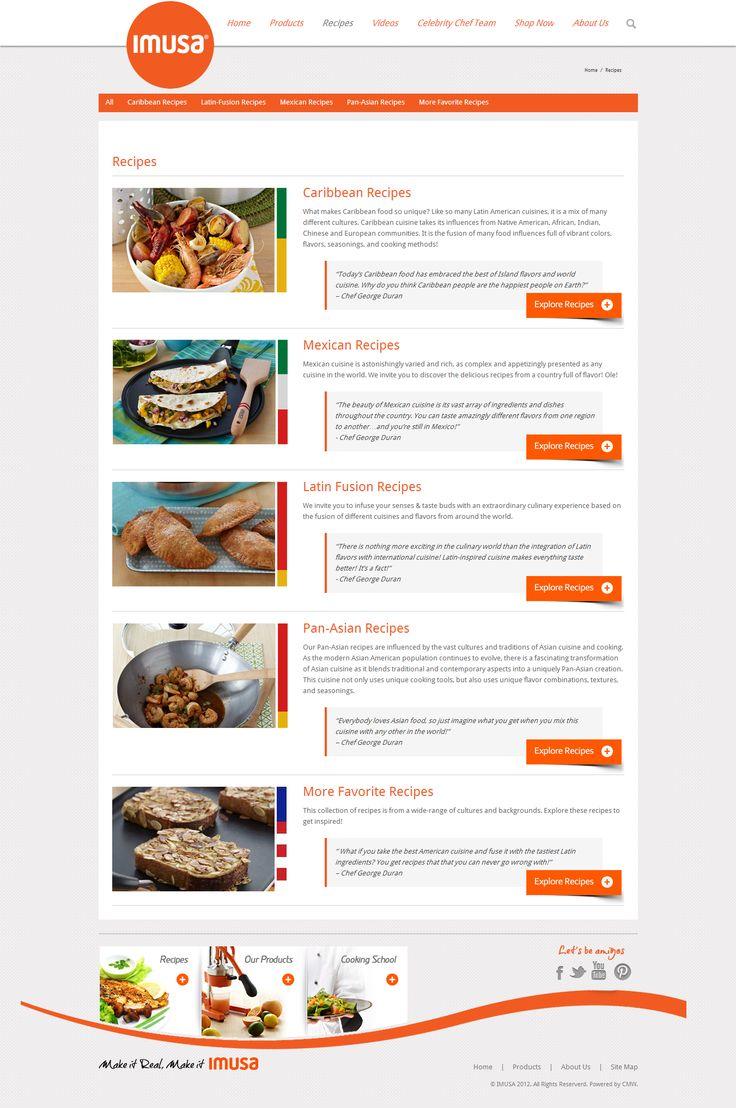 ImusaUSA.com Recipes list