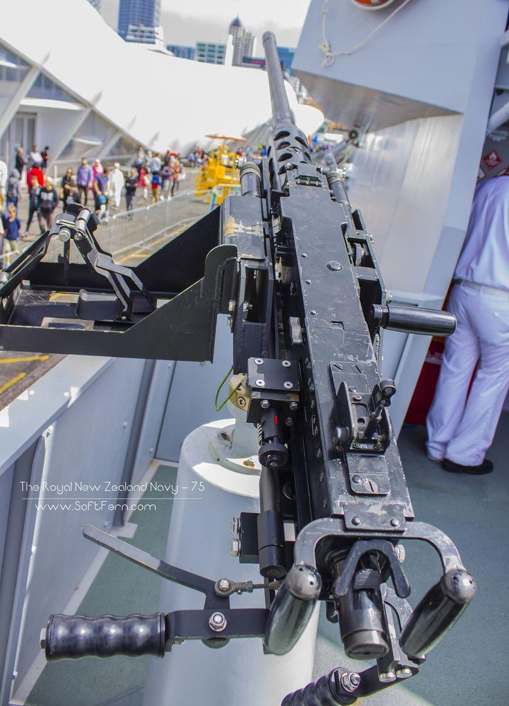 HMNZS Taupo armament one of three 12.75 mm machine guns