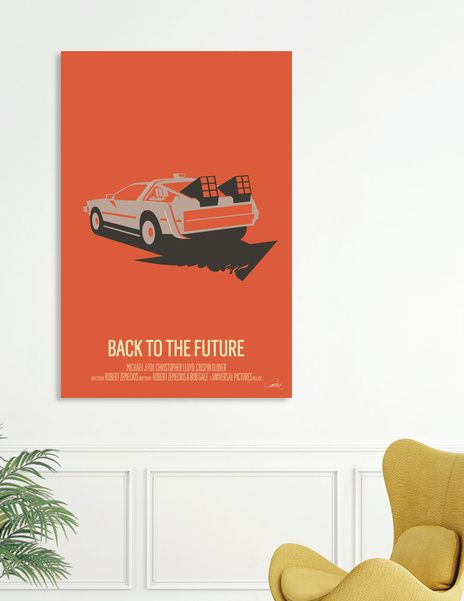 Discover «Back to the Future», Exclusive Edition Canvas Print by Bruno Morphet…