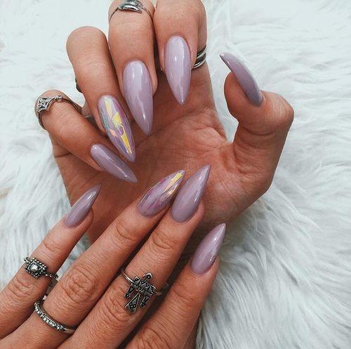 10 Stunning Chrome Nail Ideas - The 25+ Best Lavender Nails Ideas On Pinterest Fall Nail Polish