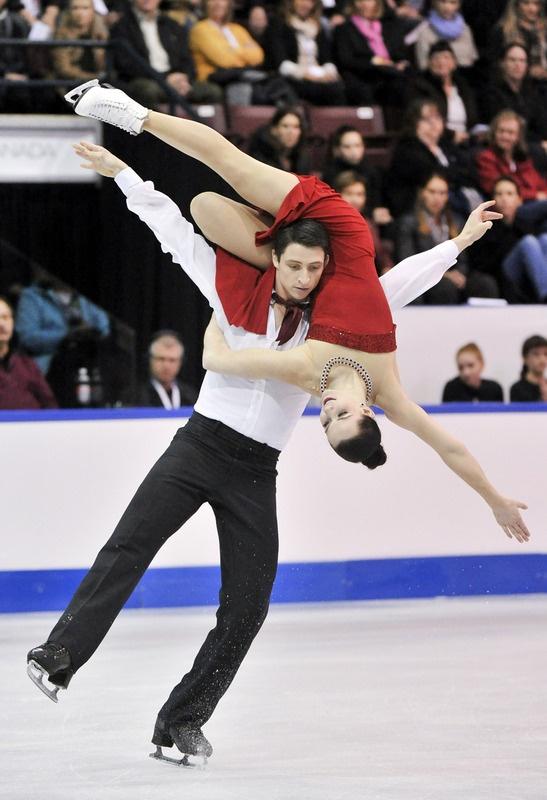 Tessa Virtue and Scott Moir ice dance