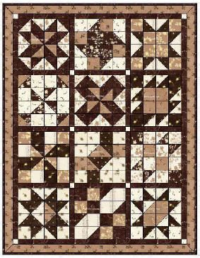 2006 Cinnamon-teen Chocolate Figs & Roses BOM Quilt by BOMquilts.com