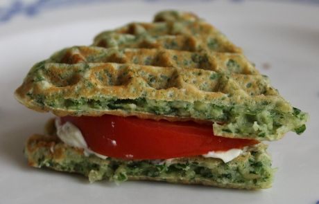 Spinach waffles   Salty waffles   Pinterest   Spinach and ...