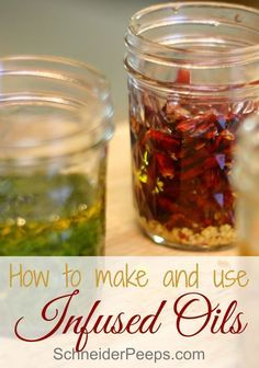 Infusing herbs into oils is a great way to add flavor, color and medicinal value…